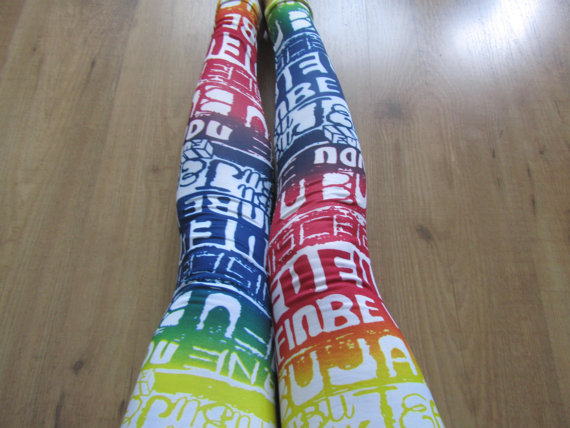 SHIP FROM NY - Graffiti Leggings / Yoga Leggings